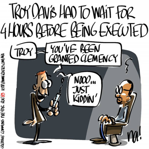 A terrible cartoon for #TroyDavis