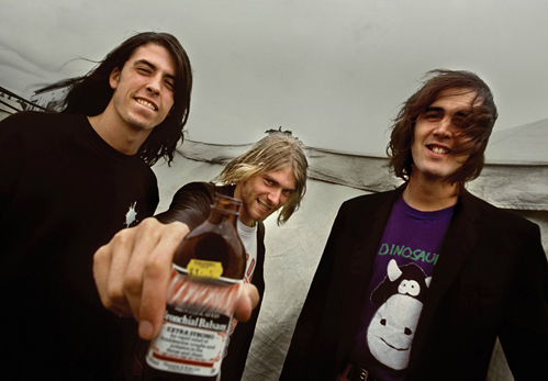 Nirvana : There's three of us but, we're not the Beatles