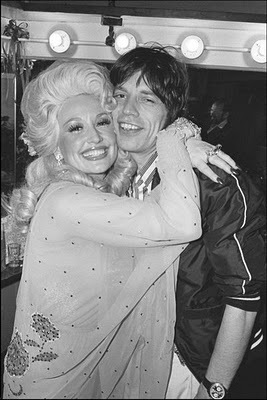 Rare Photographs of Celebrities. : Dolly Parton and Mick Jagger