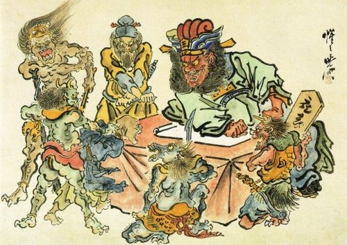 Sketches of Hell by Kawanabe Kyōsai, 1870s