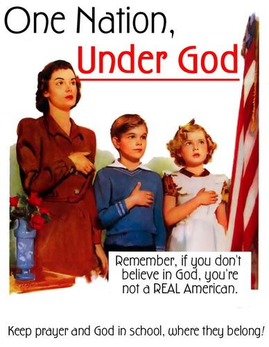 Remember, if you don't believe in god, you're not a real american ...
