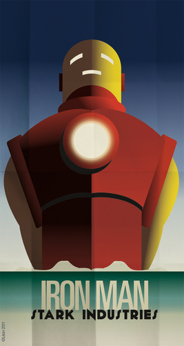 Iron Man version Art Deco