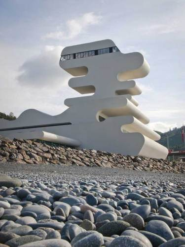 Undulating Sarpi Border Checkpoint in Georgia | Freshome