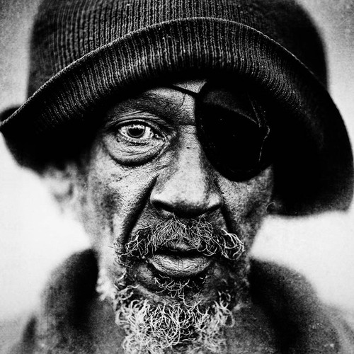Homeless Black & White Portraits by Lee Jeffries | #Photo