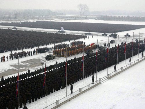 Pictures From The Funeral Of Kim Jong-Il