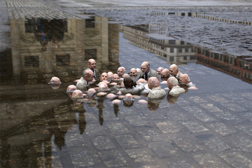 Isaac Cordal, 'Electoral Campaign', Berlin