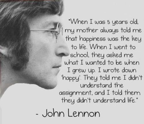 The meaning of life- by John Lennon