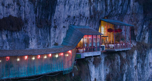 Restaurant in cave- china