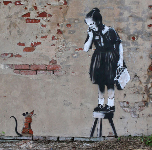 Recent Banksy Work, London