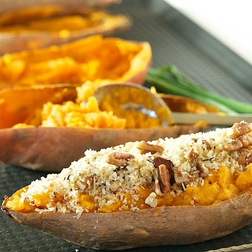 Twice Baked Curried Sweet Potatoes  #food #recettes #recipes #cuisine