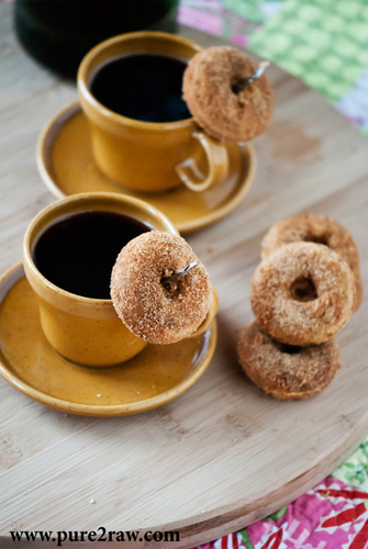 baked cake grain-free gluten-free vanilla donuts   #food #recettes #recipes #cuisine