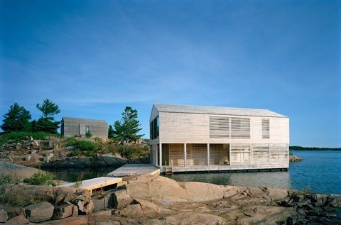 Cabin Porn: The Floating House by MOS Architects rests on...