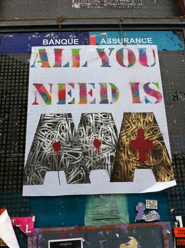 All you need is AAA » by Jocelyn Berthier #crise #graffiti
