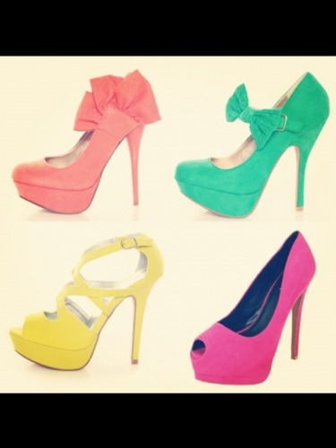 Various coloured #shoes