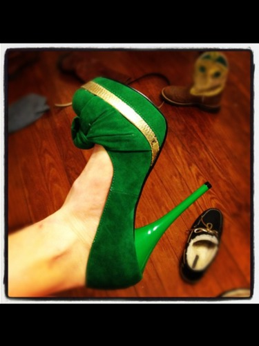 #Green #shoes