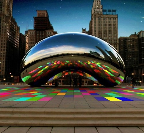 New Light and Sound Show at Chicago's Millennium Park