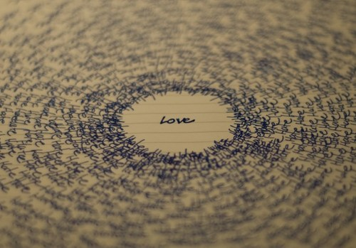Happy Valentines Day Typographic Love Surrounded