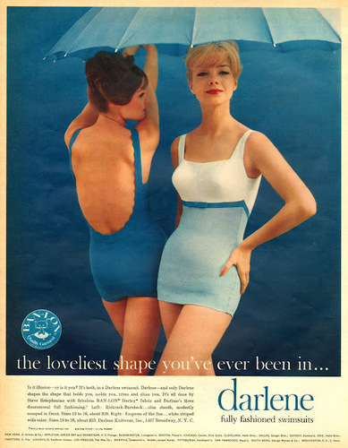 #vintage #Fashion# Advertisements in 1960