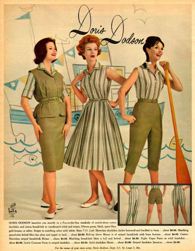 "#vintage #Fashion# Advertisements in 1960 from ""Seventeen"" Magazine"