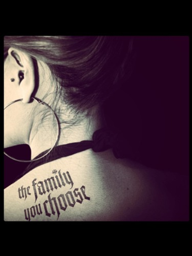 #tattoo on the neck