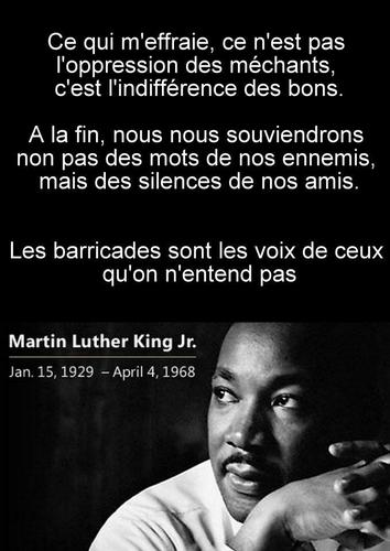 Martin Lyther King citation