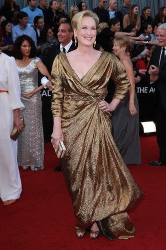 2012 Oscar Dashboard - Meryl Streep is wearing Lanvin.