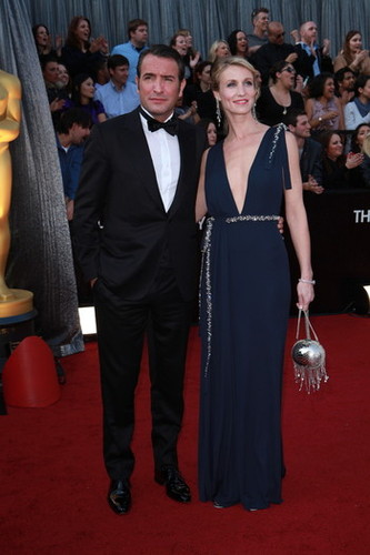 2012 Oscar Dashboard - Jean Dujardin, in Lanvin, and Alexandra Lamy.