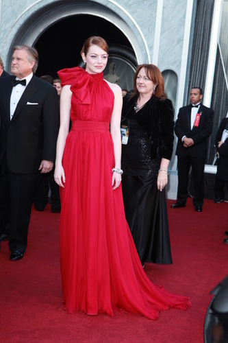 2012 Oscar Dashboard - Emma Stone is wearing Giambattista Valli Couture.