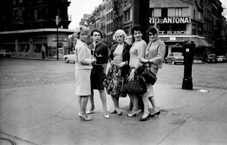 Black white photographs of parisian prostitutes from 1950s 60s