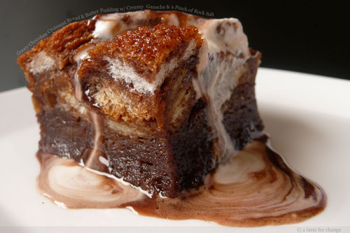 gooey chocolate croissant bread-and-butter pudding
