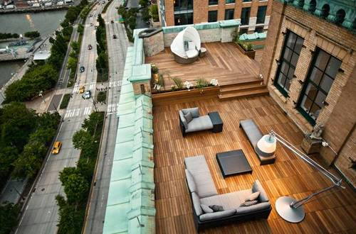 Rooftop patio design ideas by Dedon