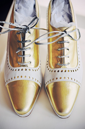 70's metallic brogues from Lula B'
