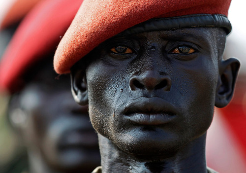 A Sudan People's Liberation Army (SPLA) soldier
