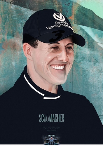 Formule1 heroes #illustration : Michael Schumacher