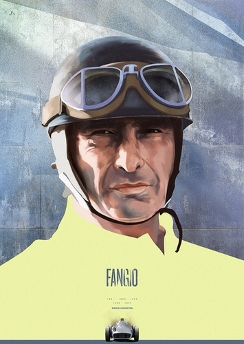 Formule1 heroes #illustration : fangio