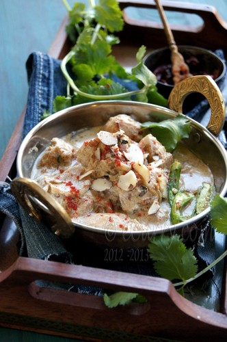 Curried Chicken in Almond Sauce  #food #recettes #recipes #cuisine