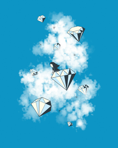 Like a Diamond in the Sky Art Print by AGRIMONY