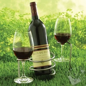 Set of Steady Sticks Outdoor #Wine Bottle and Glass Holders