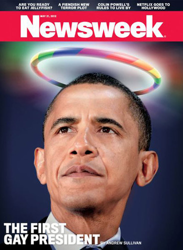 The Newsweek cover showing a rainbow halo over President Obama's head