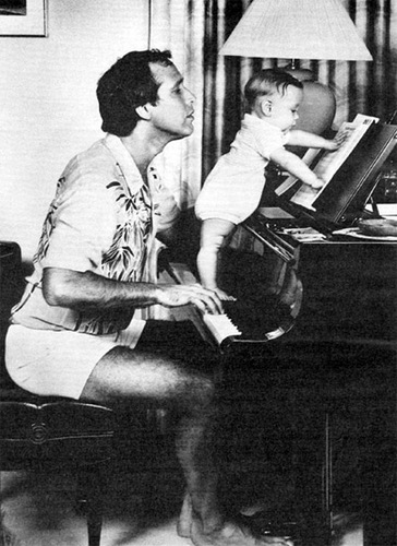 Chevy Chase and his daughter