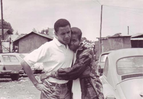 Twenty years ago Obama and Michelle.