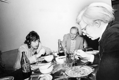 Mick Jagger, William S Burroughs, & Andy Warhol