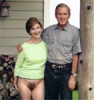 George and laura bush nude