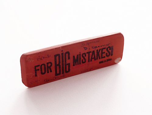 For big mistakes