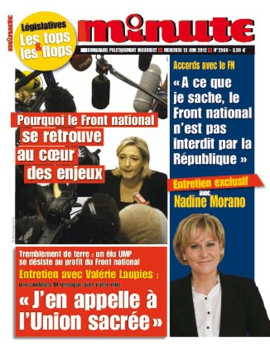 "#legislatives2012 : Dans Minute, Nadine Morano plaide pour ""le rassemblement le plus large possible"""