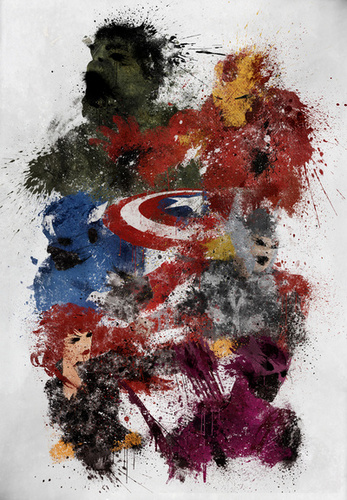 Avengers Assemble! Art Print by Melissa Smith7