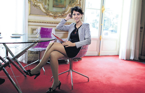 Prostitution : Najat Vallaud-Belkacem en mini jupe
