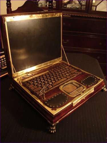 Steampunk Victorian Laptop