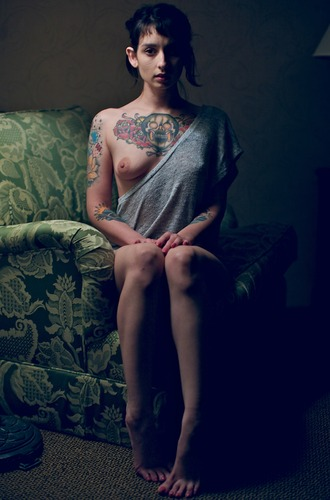 Girl on the green chair #tattoo