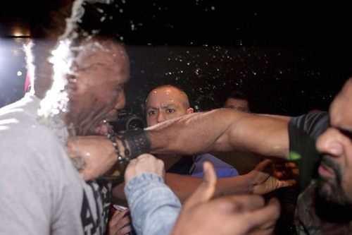 David Haye and Dereck Chisora Brawl